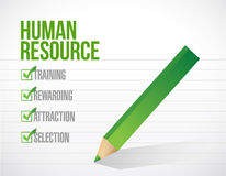 Human resource check mark illustration Stock Images