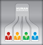 Human resource concept Stock Photography