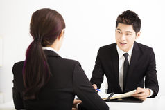 Human resource concept and Job interview. Business Human resource concept and Job interview Stock Photos