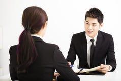 Human resource concept and Job interview Stock Photos