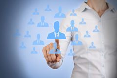 Human Resource Conceptual on Visual Screen Stock Photography