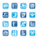 Human resource and employment icons. Vector icon set Royalty Free Stock Photography