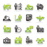 Human resource and employment icons. Vector icon set Royalty Free Stock Photos