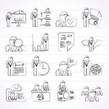 Human resource and employment icons Royalty Free Stock Image
