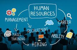 Human Resource Hiring Recruiter Select Career Concept.  Royalty Free Stock Images