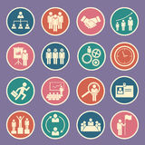 Human resource icon. Set of human resource icon Royalty Free Stock Images