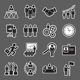 Human resource icon. Set of human resource icon Royalty Free Stock Photo