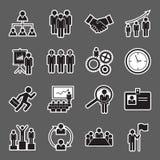 Human resource icon. Set of human resource icon royalty free stock photo
