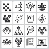 Human resource icons Stock Photos