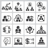 Human resource icons Royalty Free Stock Image