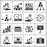 Human resource icons Stock Photos