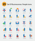 Human resource icons,Blue version Stock Photos