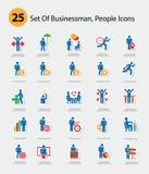 Human resource icons,Blue version.  Stock Photos
