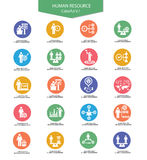 Human resource icons,Business concept. Colorful version 1 royalty free illustration