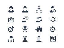 Human resource icons Royalty Free Stock Images