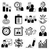 Human resource icons Royalty Free Stock Photos