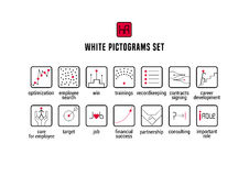 Human resource vector icons set Royalty Free Stock Image