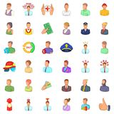 Human resource icons set, cartoon style. Human resource icons set. Cartoon style of 36 human resource vector icons for web isolated on white background Stock Photo