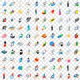 100 human resource icons set, isometric 3d style Royalty Free Stock Photos
