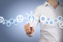 Human Resource Idea on Touch Screen Royalty Free Stock Image