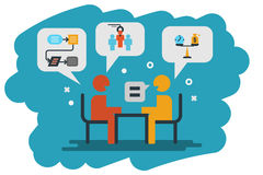 Human resource, interview icon illustration Stock Images