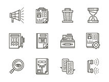 Human resource management black line icons Stock Photos