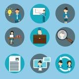 Human resource management business icon set training Royalty Free Stock Photos