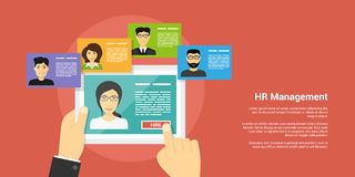 Human resource management concept Royalty Free Stock Images