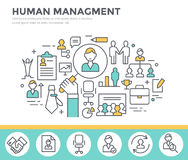Human resource management concept illustration. Royalty Free Stock Photos