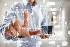 Human resource management, HR, recruitment, leadership and teambuilding. Business and technology concept. Stock Image