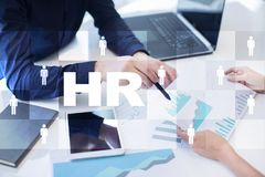 Human resource management, HR, recruitment, leadership and teambuilding. Business and technology concept. Human resource management, HR, recruitment, leadership Stock Photography