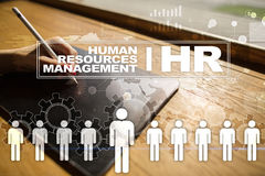 Human resource management, HR, recruitment, leadership and teambuilding. Business and technology concept Royalty Free Stock Photos