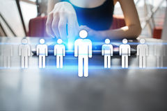 Human resource management, HR, recruitment, leadership and teambuilding. Business and technology concept Royalty Free Stock Image
