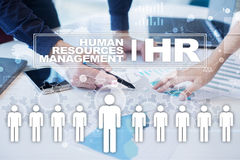 Human resource management, HR, recruitment, leadership and teambuilding. Business and technology concept Stock Image