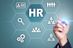 Human resource management, HR, recruitment, leadership and teambuilding. Business and technology concept royalty free stock images