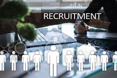 Human resource management, HR, recruitment, leadership and teambuilding. Business and technology concept Stock Photography