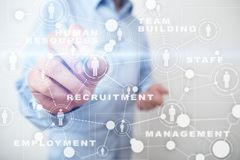 Human resource management, HR, recruitment, leadership and teambuilding. Business and technology concept royalty free stock photography