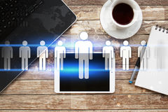 Human resource management, HR, recruitment and teambuilding. Business concept. Human resource management, HR recruitment leadership and teambuilding. Business Stock Photo