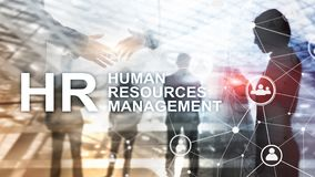 Human resource management, HR, Team Building and recruitment concept on blurred background. stock photo