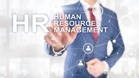 Human resource management, HR, Team Building and recruitment concept on blurred background royalty free stock photo