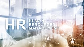 Human resource management, HR, Team Building and recruitment concept on blurred background. royalty free stock images