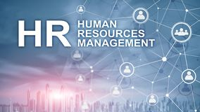 Human resource management, HR, Team Building and recruitment concept on blurred background royalty free stock images