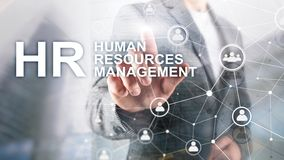 Human resource management, HR, Team Building and recruitment concept on blurred background. stock image