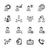 Human resource management icon set, vector eps10 Royalty Free Stock Image