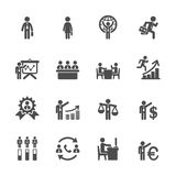 Human resource management icon set 6, vector eps10 Stock Image