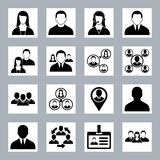 Human resource and management icons set Royalty Free Stock Photos