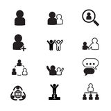 Human resource management icons set Stock Images