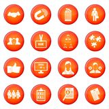 Human resource management icons vector set Stock Images