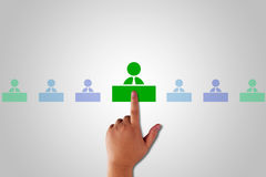 Human Resource Management. Teamwork concept, business recruitment Stock Photos