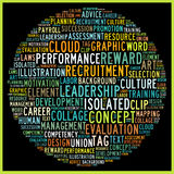 Human Resource Management. In word collage Stock Photography